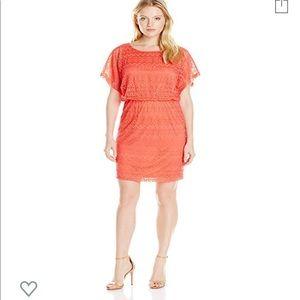 London Times Lace Blouson Dress Size 6
